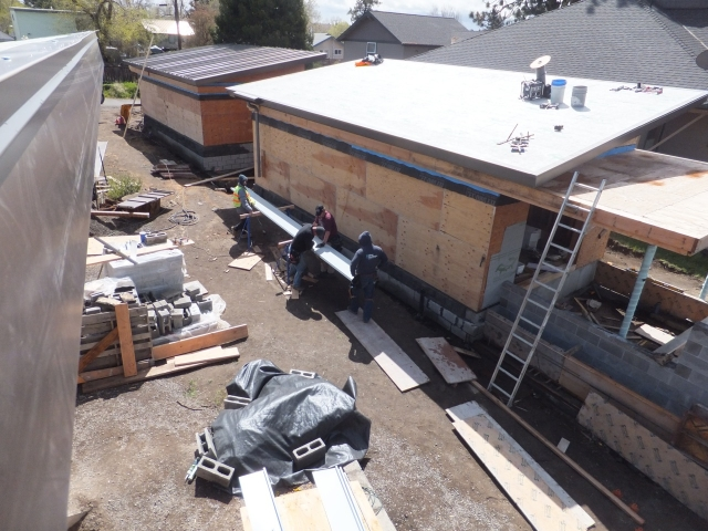 Roofing in Progress