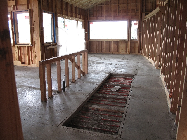 Concrete Slab Poured over the Radiant Heat Tubing