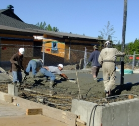 Screeding Concrete