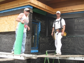 David Kaiser Jr. and Sr. with Elite Plastering