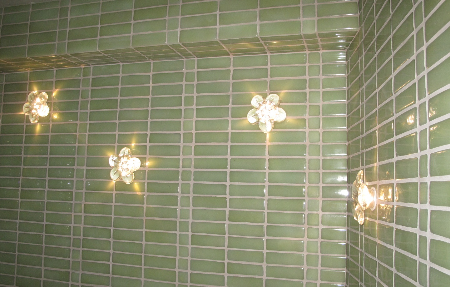 Bathroom Tile and Lights
