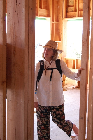 Barb admiring the framing