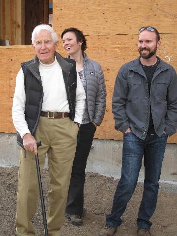 David, Keith, and Marissa on a tour of Desert Rain