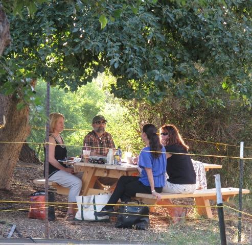 Meeting under the apple tree