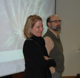 Barb and Tom at a Living Building Challenge presentation