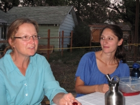 Kelly Riley (documentation, blogger) and Soraya Renner, Barb and Tom's new assistant