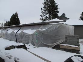 The ADU under wraps