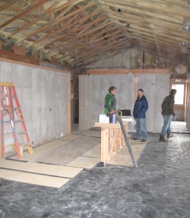 Cellulose insulation in place
