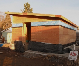The garage construction 11-26-12