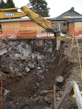 excavating for the cistern