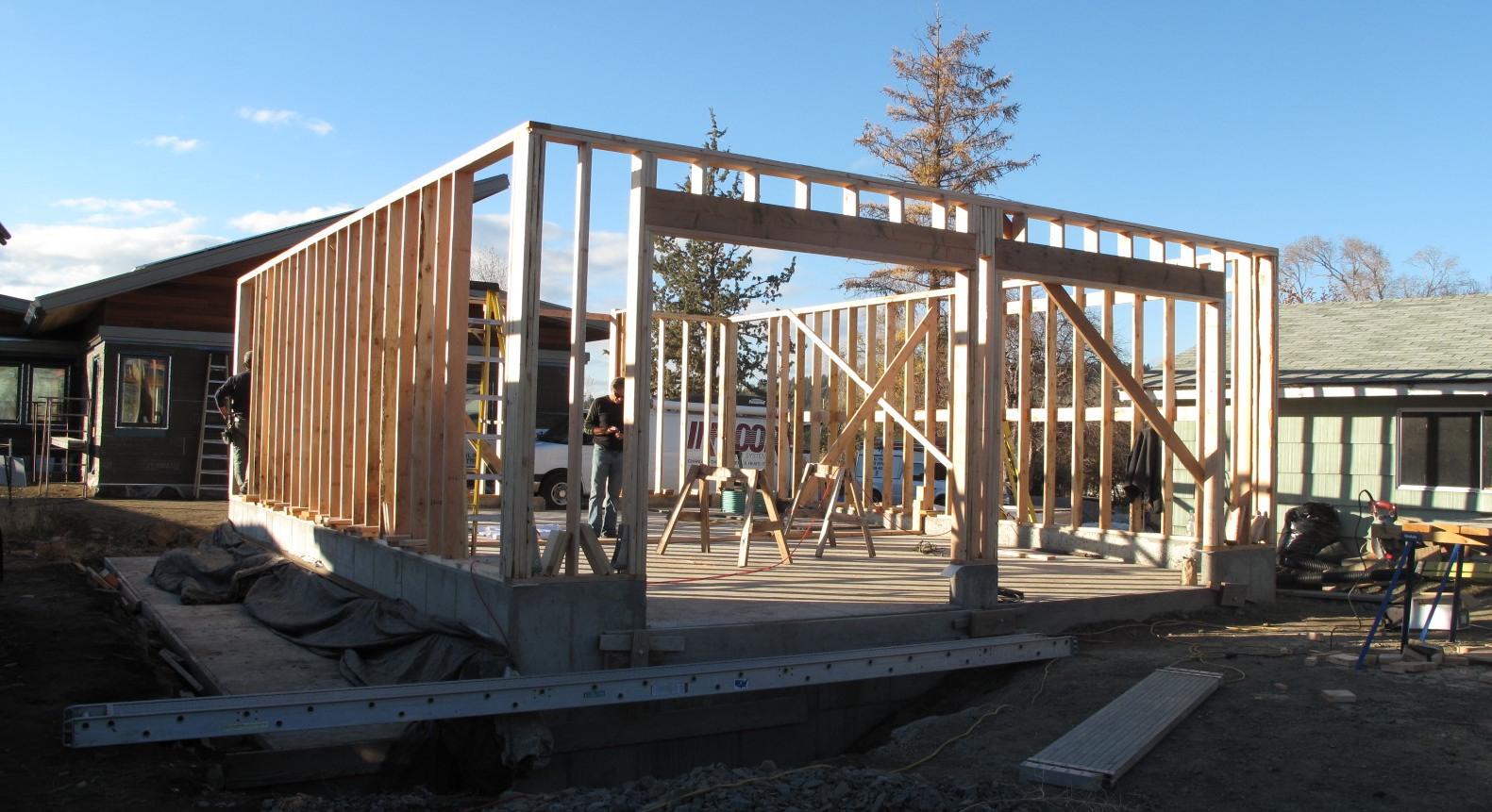 Good wood desert rain house for Garage framing plans
