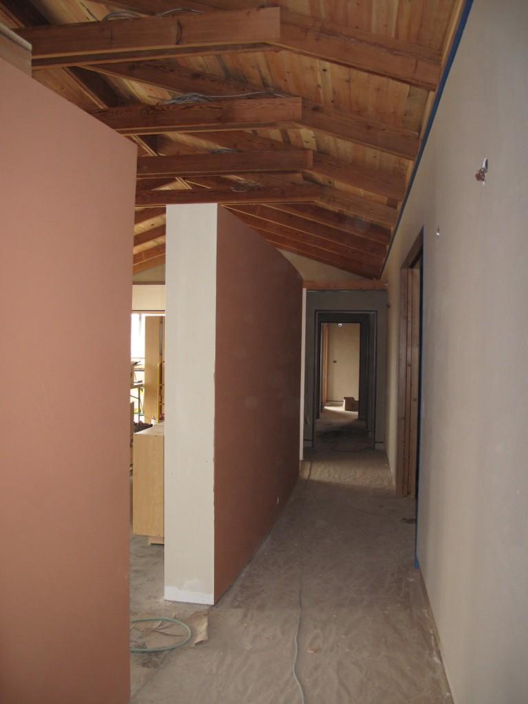American Clay plaster walls  - Earth, and the custom Manzanita on the Miro wall.