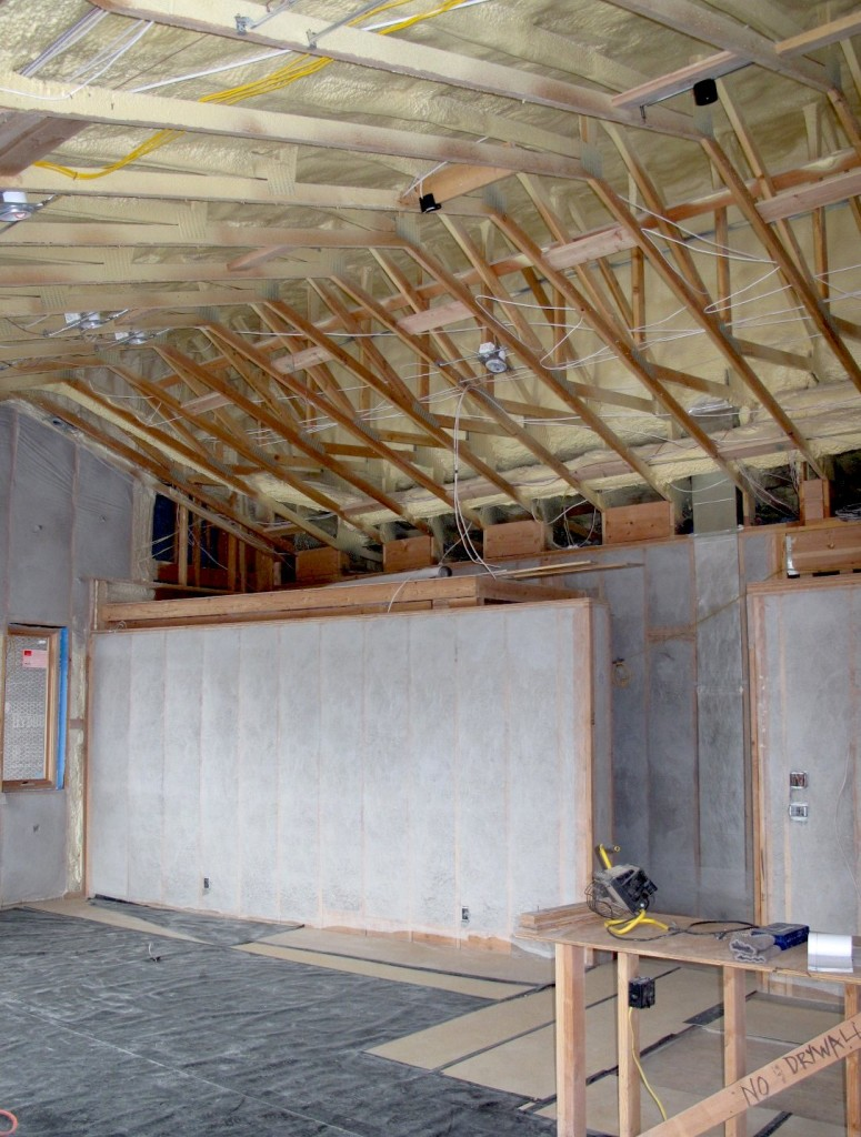 insulation in main room