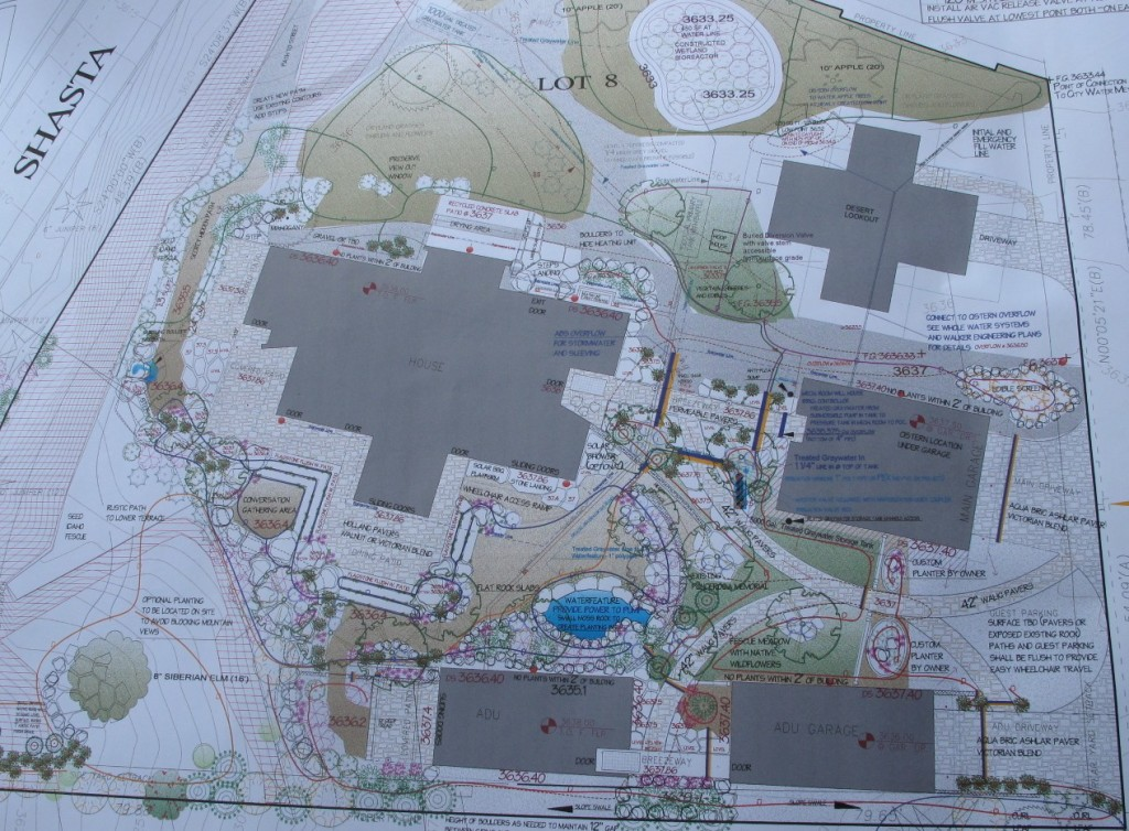 The landscape plans continue to evolve  as new structures are added and more water is available for irrigation.