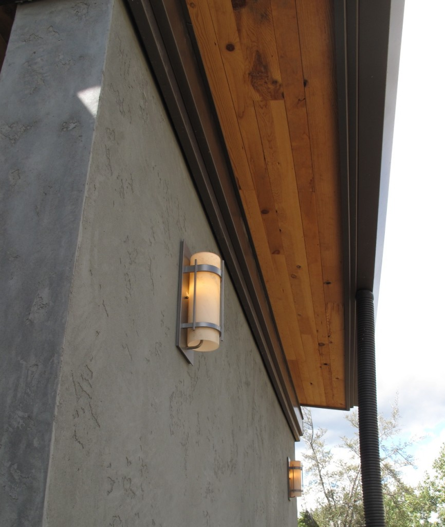 Exterior LED lights on the north side of Desert Rain.