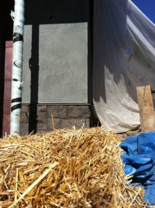 Straw used in Stucco