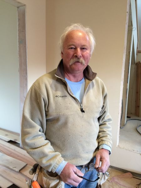 Steve is working with Versatile Carpentry to install the finish work at Desert Lookout.