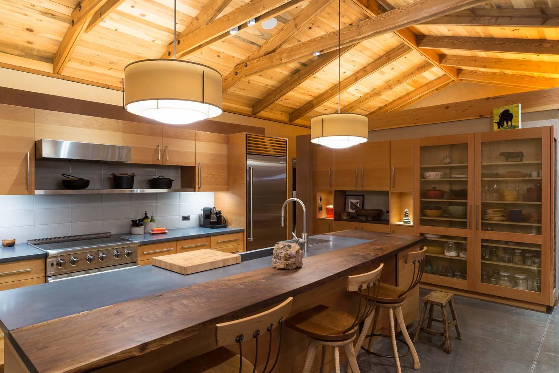 kitchen night lighted